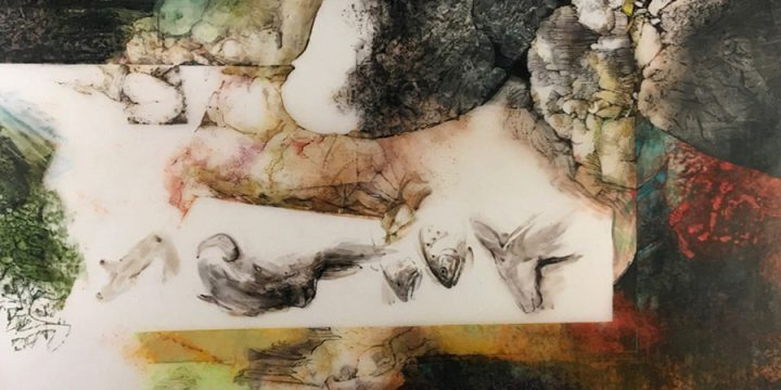 Richard Wiegmann, Yellowstone Sketchbook, graphite, oil crayon, prismacolor on polyester film, 1999
