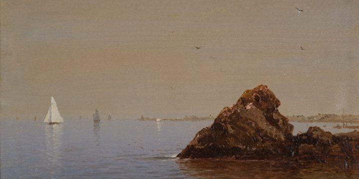 John Frederick Kensett, Seashore, oil on linen on board, n.d.