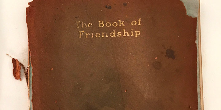 Cora Parker, The Book of Friendship, book illustrations designed & handcolored, 1902