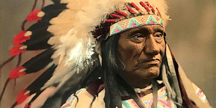 Herman Heyn, Little Wound, Chief Ogallala Sioux (Oglala),  handcolored photograph, c. 1899