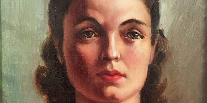 Zanna Anderson, Self Portrait, oil on canvas, 1935
