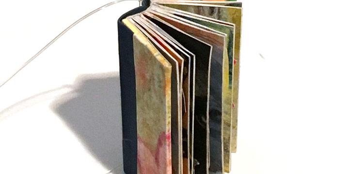 Marvel Maring, Tea with Mara, drum leaf binding with mixed media pop-ups, 2013