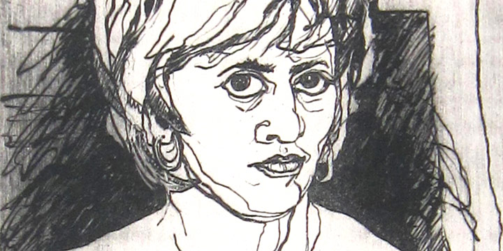 Patricia Norman, Mirror, Mirror, Who?, etching (Artist Proof V), 1976