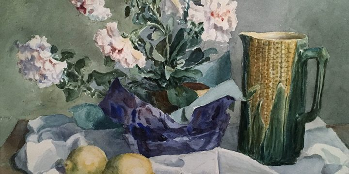 Louise Easterday Mundy, Corn Pitcher, watercolor, 1942