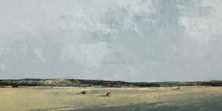 """Richard Terrell, Near Callaway, oil on canvas, 1997, 10 × 14"""""""