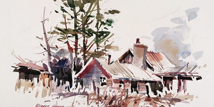 Robert Hanna, Untitled (house), watercolor, n.d.
