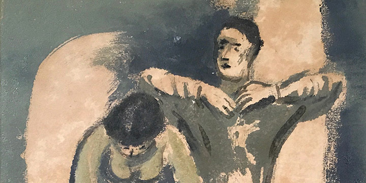 Edgar Britton, Dancers, monotype, n.d.
