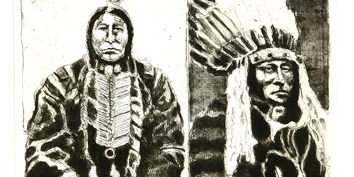 Robert Weaver, Doctor, Lawyer, Indian Chief, lithograph, 1965