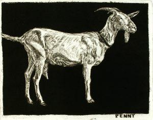 Robert Weaver, Penny, etching, 1983