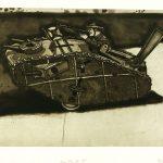 Robert Weaver, Toy Tank II, etching (14/20), 1978