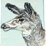 Robert Weaver, Deer, oil on paper, 1974