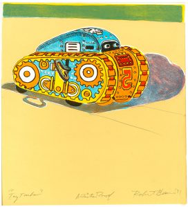 Robert Weaver, Toy Tank, six-color lithograph (artist's proof), 1977