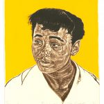 Robert Weaver, Treeva, color lithograph (8/10, yellow background), 1976