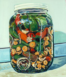 Robert Weaver, Jalapeno Peppers, oil on canvas, 1976