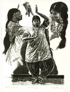Robert Weaver, Pakistani Dancer, lithograph, 1974