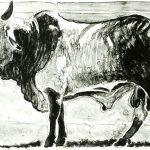 Robert Weaver, Brahma Bull, lithograph (State I, 4/10), 1972