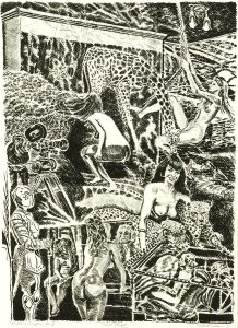 Robert Weaver, Multiple Image No. 1, lithograph (trial proof), 1971