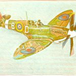 Robert Weaver, Spitfire, color lithograph (9/50), 1980
