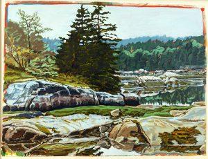 Robert Weaver, Vinal Haven, Maine, oil on paper, 1983