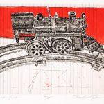 Robert Weaver, Johnnie's Toys - Choo-Choo Train, three color etching (5/15), 1982