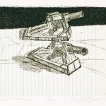 Robert Weaver, Johnnie's Toys - Two Cannons, two-color etching (5/15), 1982