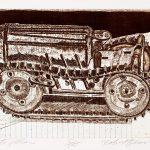 Robert Weaver, Johnnie's Toys - Caterpillar, two-color etching (5/15), 1982