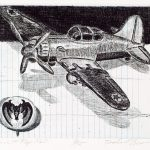 Robert Weaver, Johnnie's Toys - Plane and Pep Pin, etching (5/15), 1982