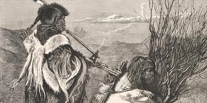 Arthur Boyd Houghton, Hiawatha and Minne-ha-ha, wood engraving