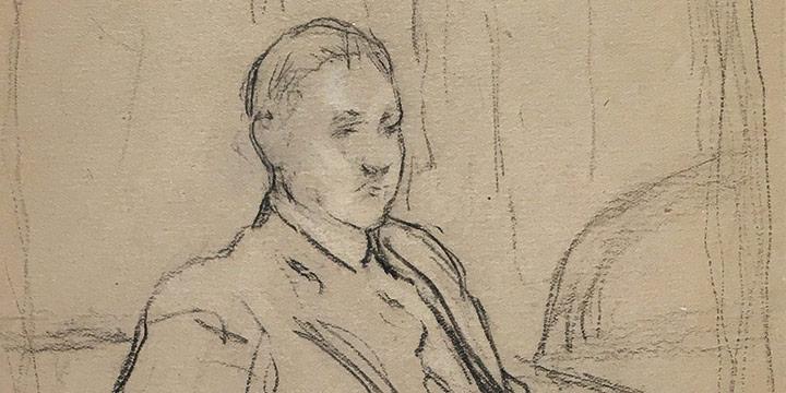 Lawton S Parker, Carl Frieske, conte crayon, n.d.