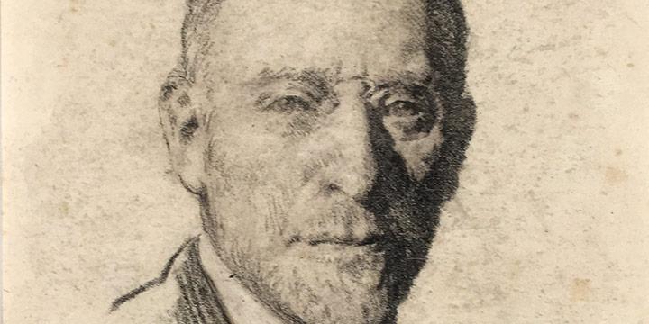 Lawton S Parker, Henry Morganthau, conte crayon, n.d.