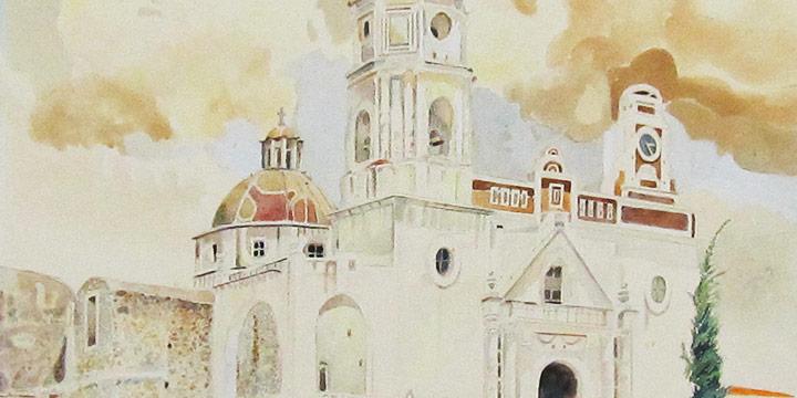 Walter Buckingham Swan, #85 El Arenal (sandy ground), watercolor, 1940