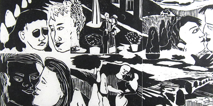 Jessie Nebraska Gifford, Dream of Love, woodcut (11/20), 1986