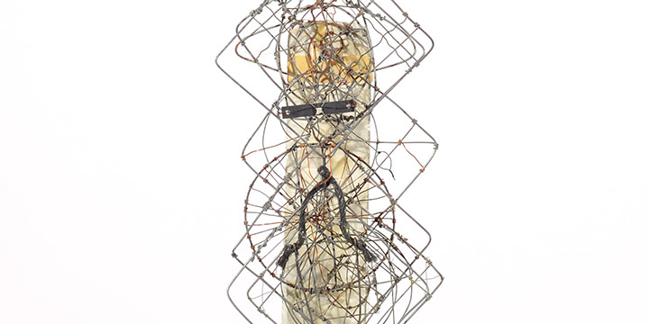 Emery Blagdon, Untitled Individual Component of the Healing Machine, mixed media, wire, c. 1955-1986