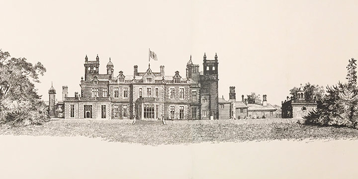 Patrick Horsbrugh, Untitled (castle), ink, 1963