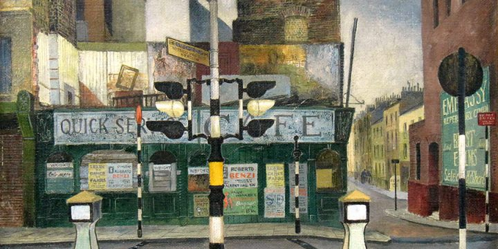 Leonard Thiessen, Notting Hill Gate, oil on canvas, 1950