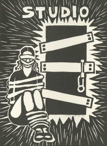 Marcia Joffe-Bouska, The Book of Bad Things-Volume 1, Women - No Passage, artist book: linocut (1/4), 1998