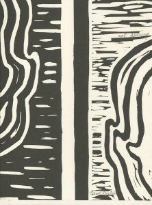 Carol Rustad, The Book of Bad Things-Volume 1, Women - Not Hearing, artist book: linocut (1/4), 1998