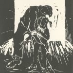 Carol Gallion, The Book of Bad Things-Volume 2, Children - The Predator, artist book: linocut (1/4), 1998
