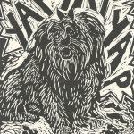 Susan McGilvrey, The Book of Bad Things-Volume 2, Children - Widdle Fluffie-Wuffie and Him's Widdle Poopsie-Woopsies, artist book: linocut (1/4), 1998