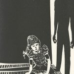 Amy Sadle, The Book of Bad Things-Volume 2, Children - Childhood Shadows, artist book: linocut (1/4), 1998
