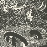 Beth Irwin, The Book of Bad Things-Volume 2, Children - Toxic Noise, artist book: linocut (1/4), 1998