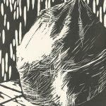 Susan Belau, The Book of Bad Things-Volume 3, Society - Trash, artist book: linocut (1/4), 1998
