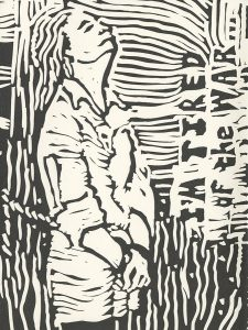 Eddith Buis, The Book of Bad Things-Volume 3, Society - Orleans Revisited, artist book: linocut (1/4), 1998