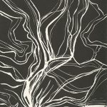 Betty Foster, The Book of Bad Things-Volume 3, Society - Tornado, artist book: linocut (1/4), 1998