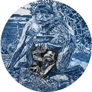 Robert Weaver, Tondo Monkey, 1970
