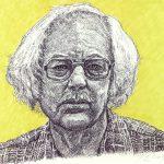 Robert Weaver, Bill Kloefkorn-Nebraska State Poet, ink, marker, 1984