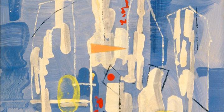 Leonard Thiesson, Fun Fair, oil on board, 1959