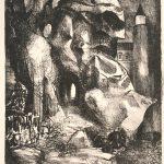Leonard Thiessen, Auflosung, lithograph (2/10), 1951