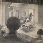 Leonard Thiessen, The Wild Duck, in Performance, Stockholm, 1933, crayon, c. 1933