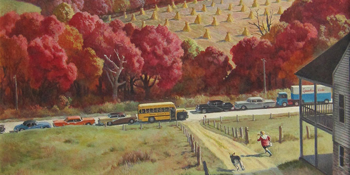 Falter, The Saturday Evening Post Cover, Mary Slowpoke's Late for School, October 12, 1957, c. 1957
